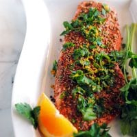 Pepper and Coriander Coated Salmon Fillets