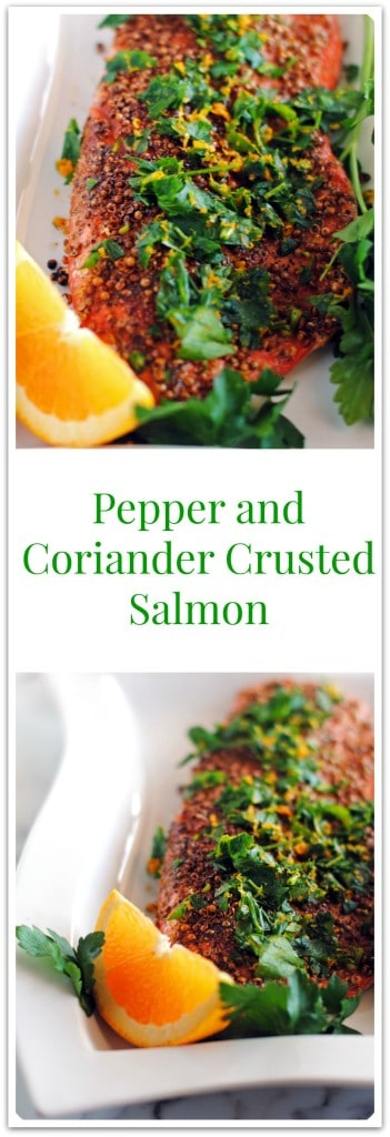 Pepper and Coriander Crusted Salmon Fillets