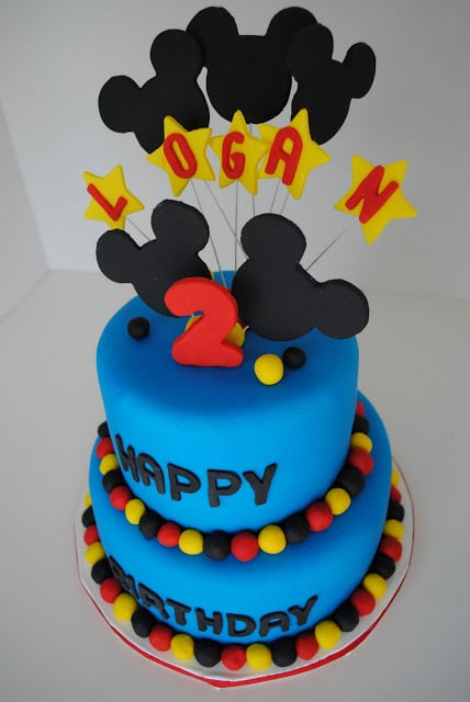 Cool Mickey Mouse Birthday Cake The Cake Chica Personalised Birthday Cards Bromeletsinfo