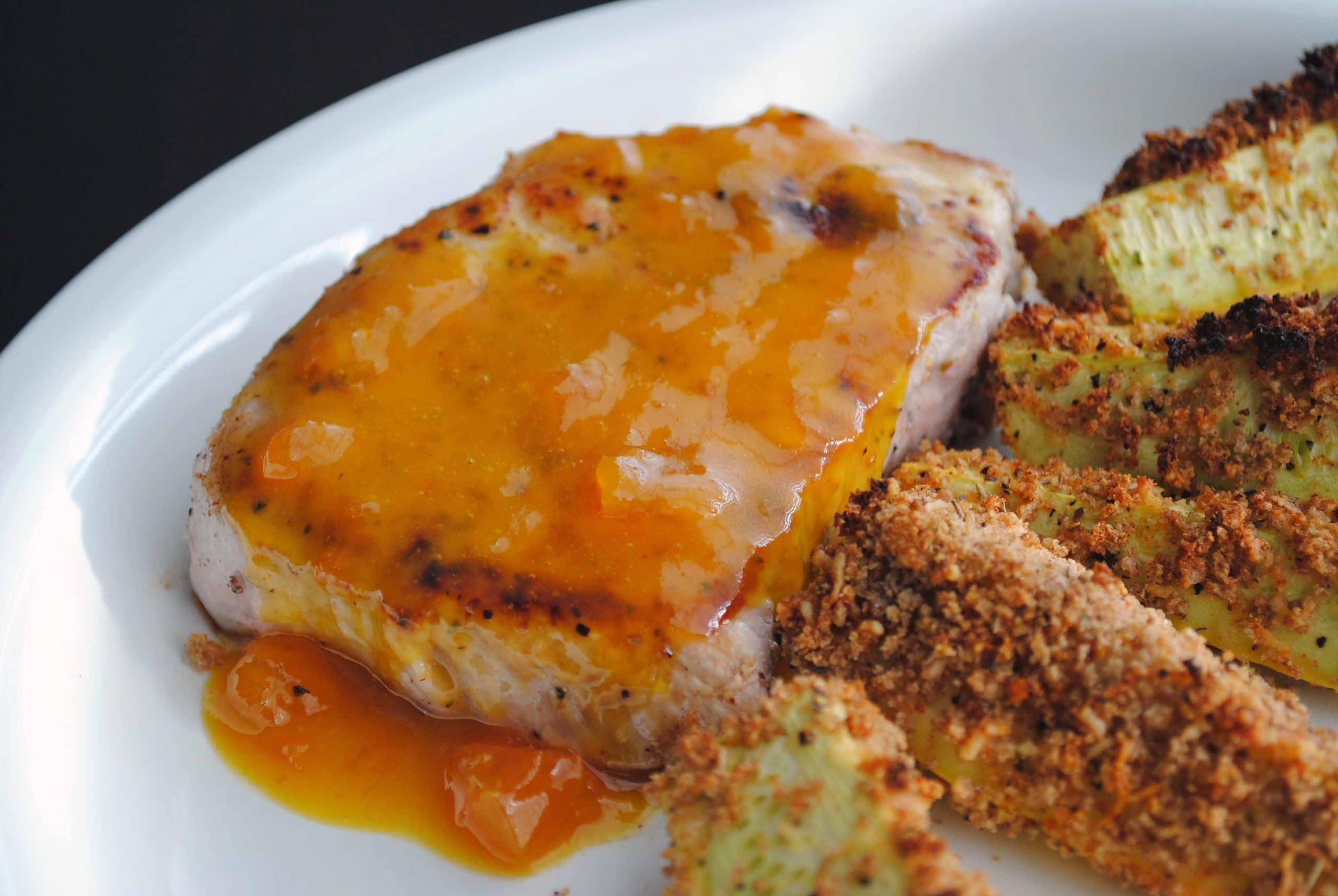 Apricot Mustard Pork Chops