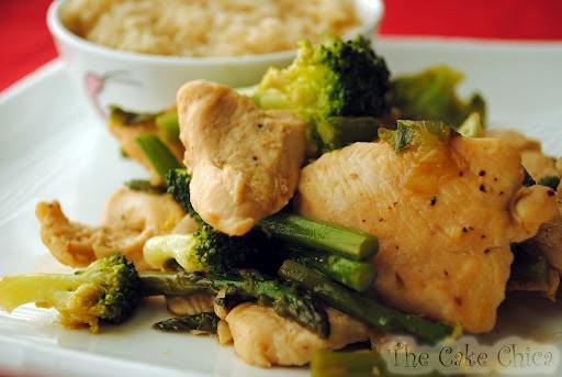 Chicken, Asparagus and Broccoli Stir-Fry