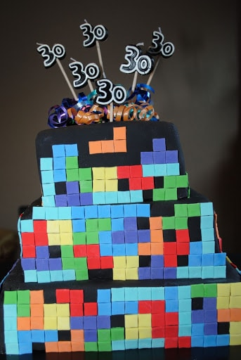Tetris Cake The Cake Chica - Tetris birthday cake