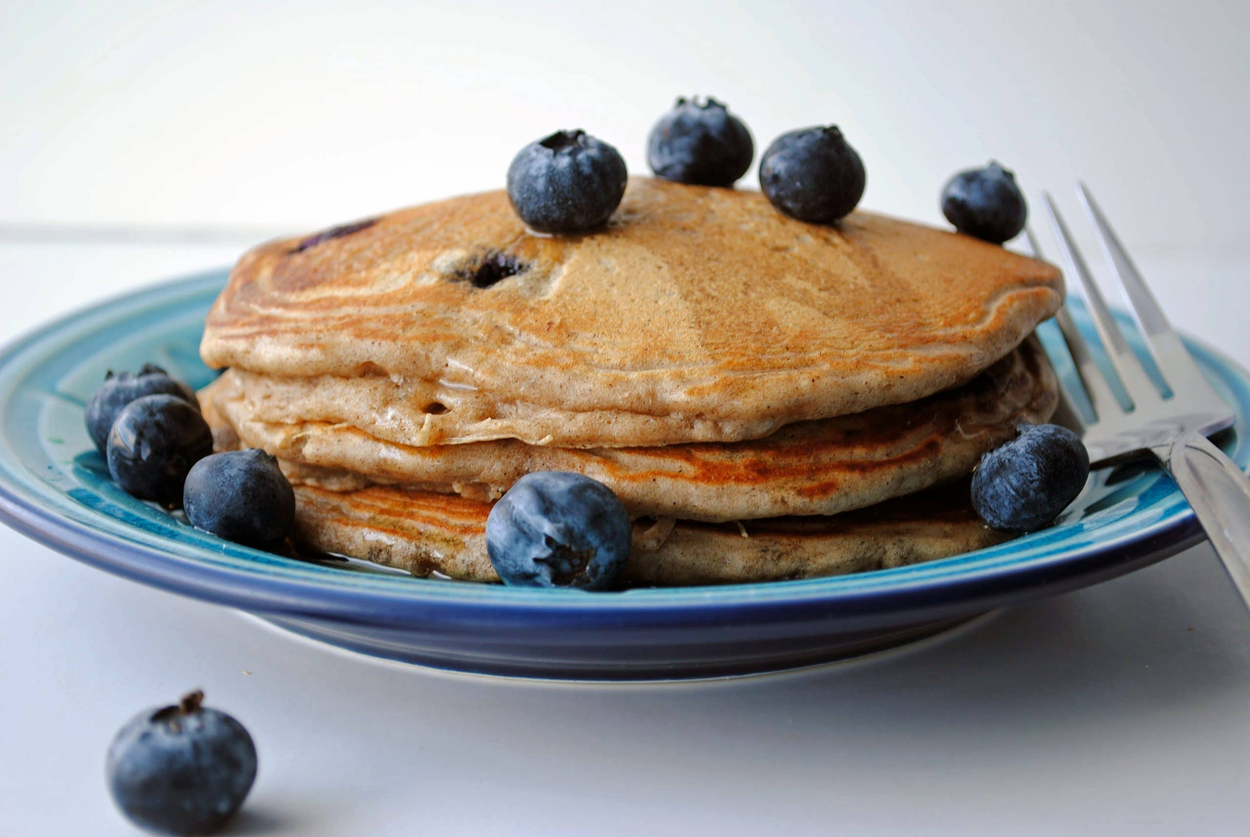 Blueberry Buckwheat Pancakes The Cake Chica