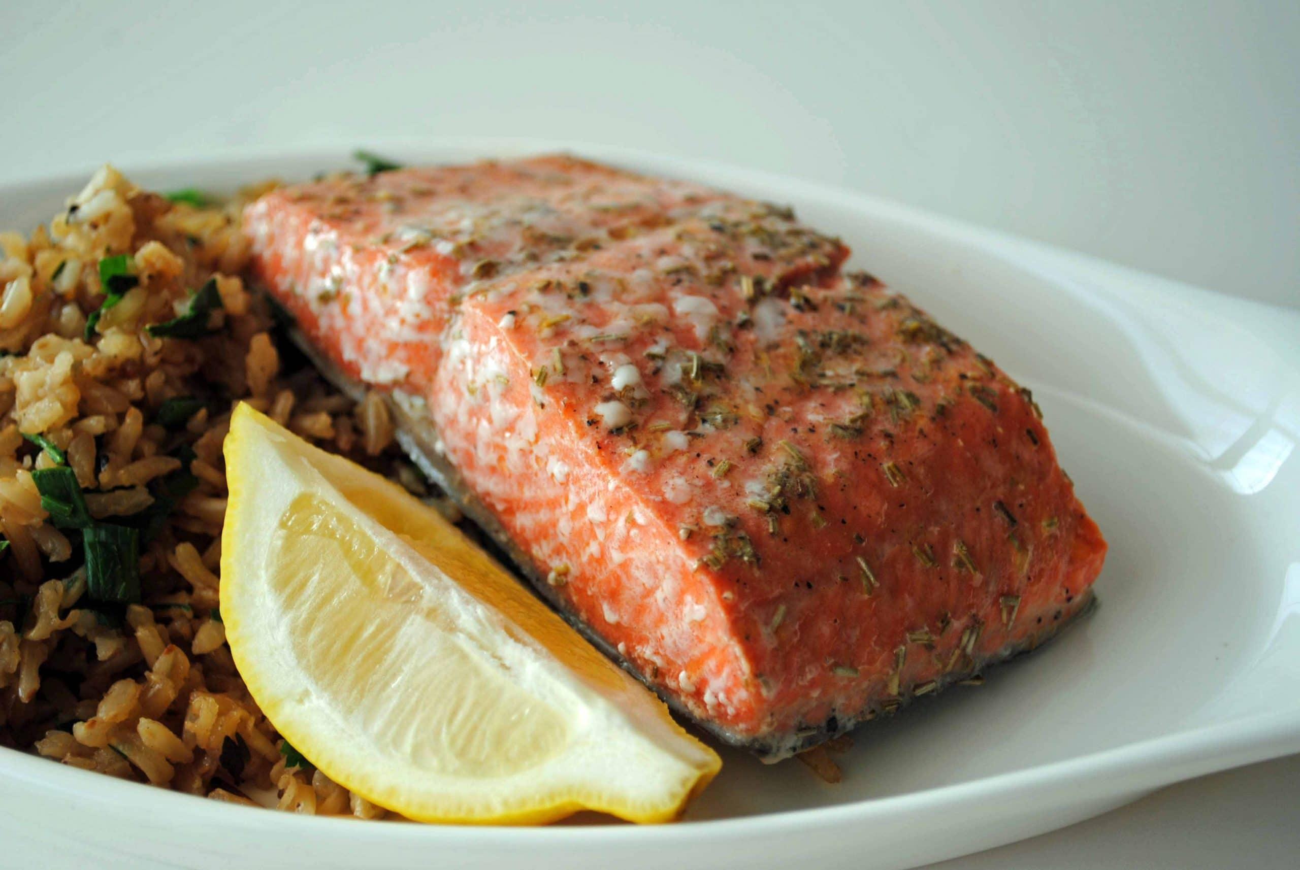 Lemon-Rosemary Salmon Filets