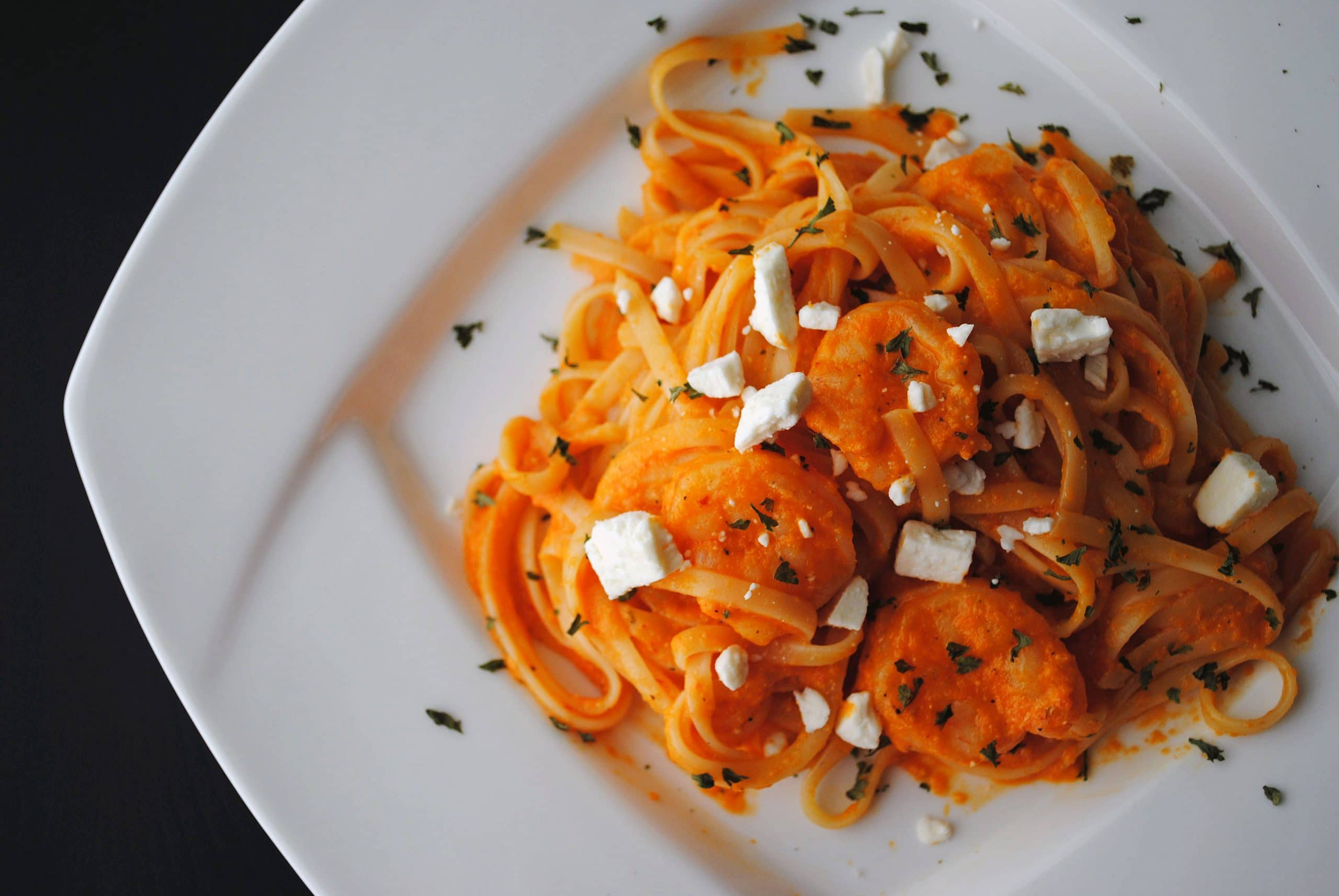 Linguine with Creamy Red Pepper Sauce