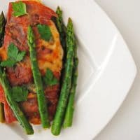 Chicken Saltimbocca with Asparagus