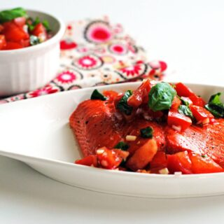 Oven Baked Salmon with Fresh Tomato Relish