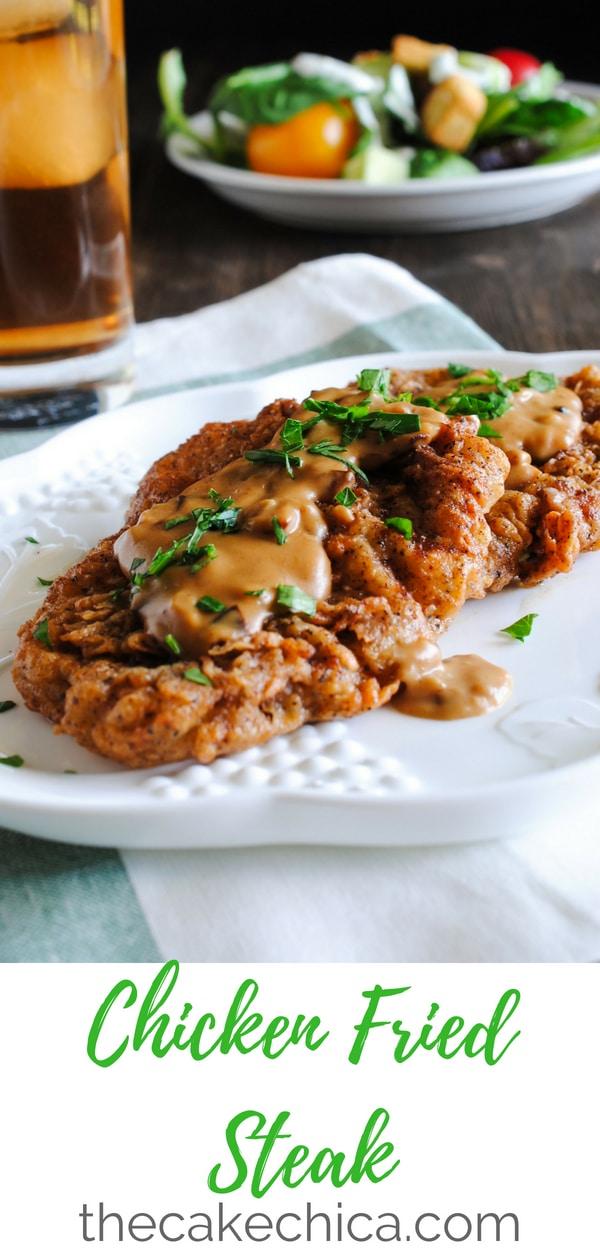 Comfort food at it's best! #comfortfood #thecakechica #chickenfriedsteak #friedfoods #cfs