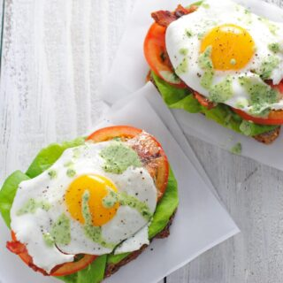 Open-Face Green Goddess BLTS