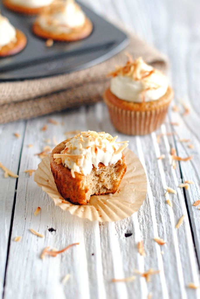 Protein Coconut Cupcakes