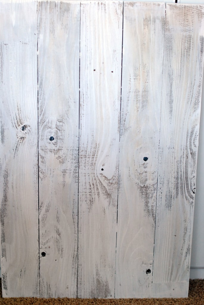White wood board