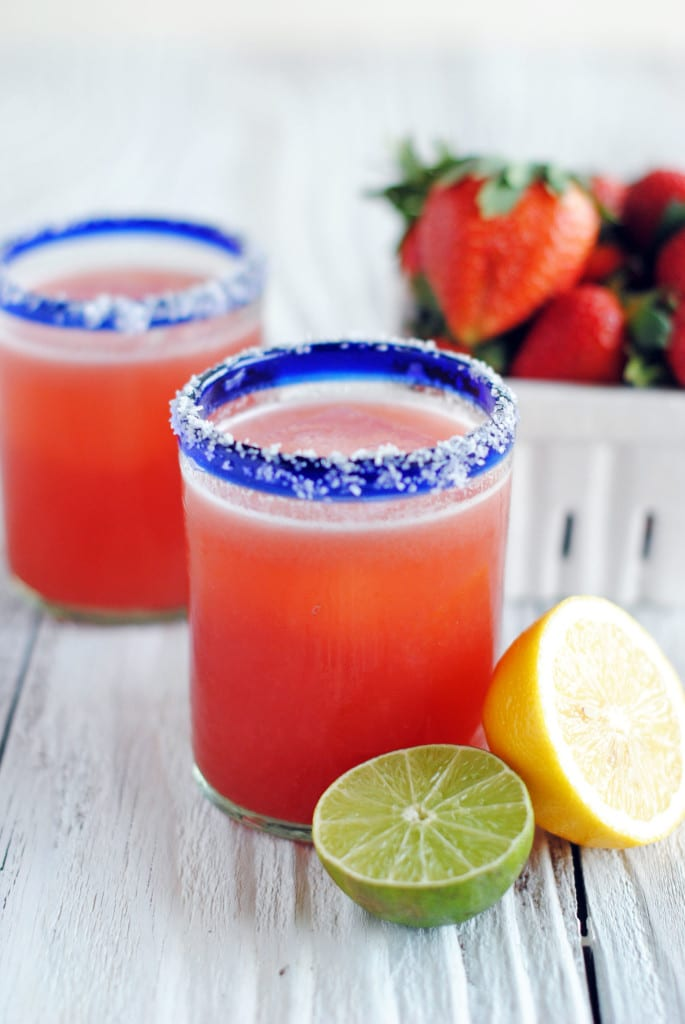 Fresh Strawberry Margaritas The Cake Chica