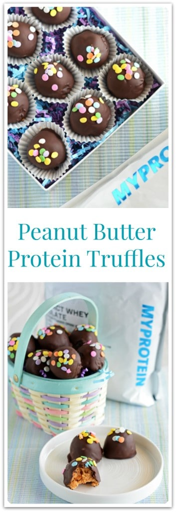 Peanut Butter Protein Truffles for Pinterest