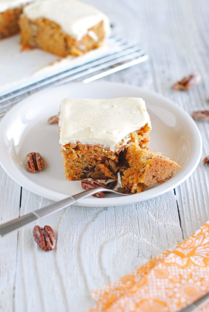 Spiced Carrot Cake with Vanilla Bean Cream Cheese Frosting