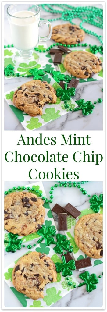 Andes Mint Chocolate Chip Cookies