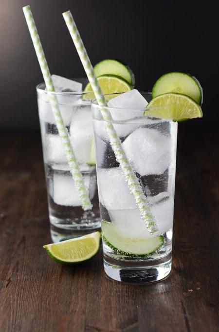 Topo Chico Cucumber Cocktails