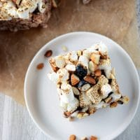 Rocky Road Brown Rice Crispy Treats