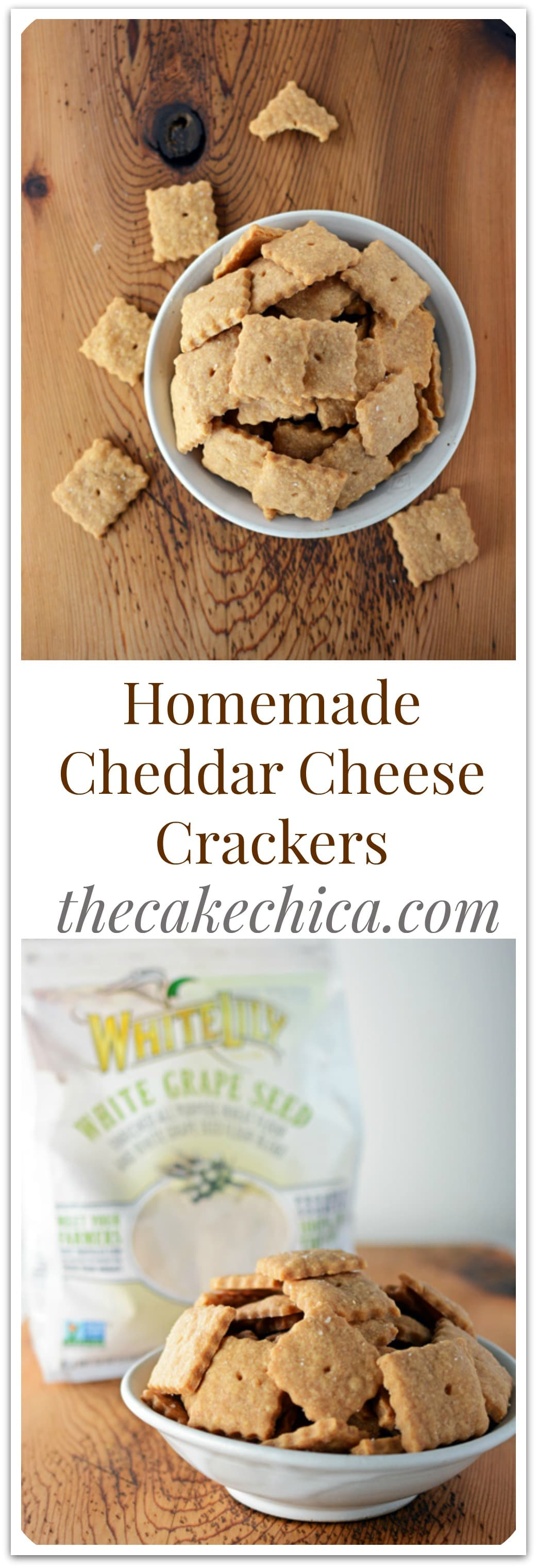 Homemade Cheddar Cheese Crackers for Pinterest