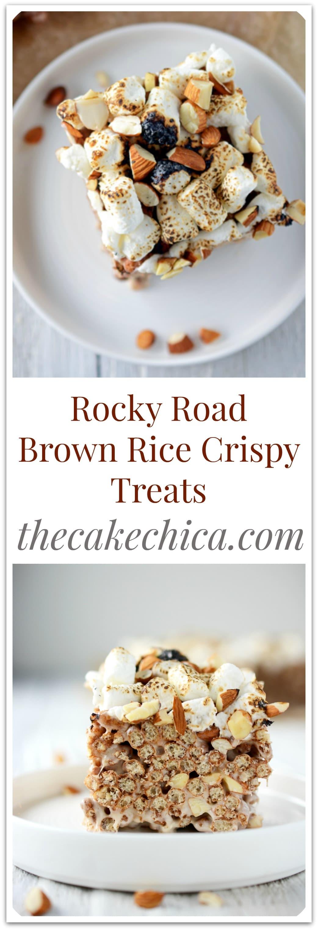 Rocky Road Brown Rice Crispy Treats