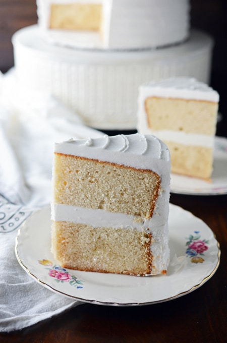 White Almond Cake