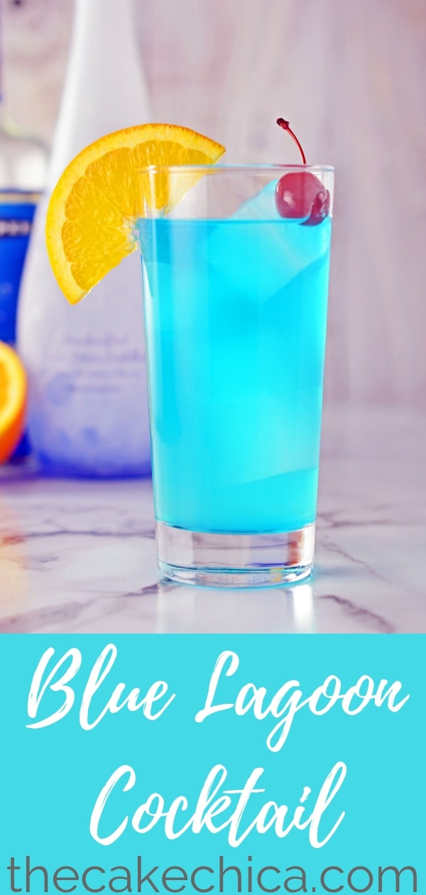 A simple and refreshing beverage made with lemonade, vodka and Blue Curacao. #vodka #lemonade #cocktail #mixeddrinks #summerdrinks