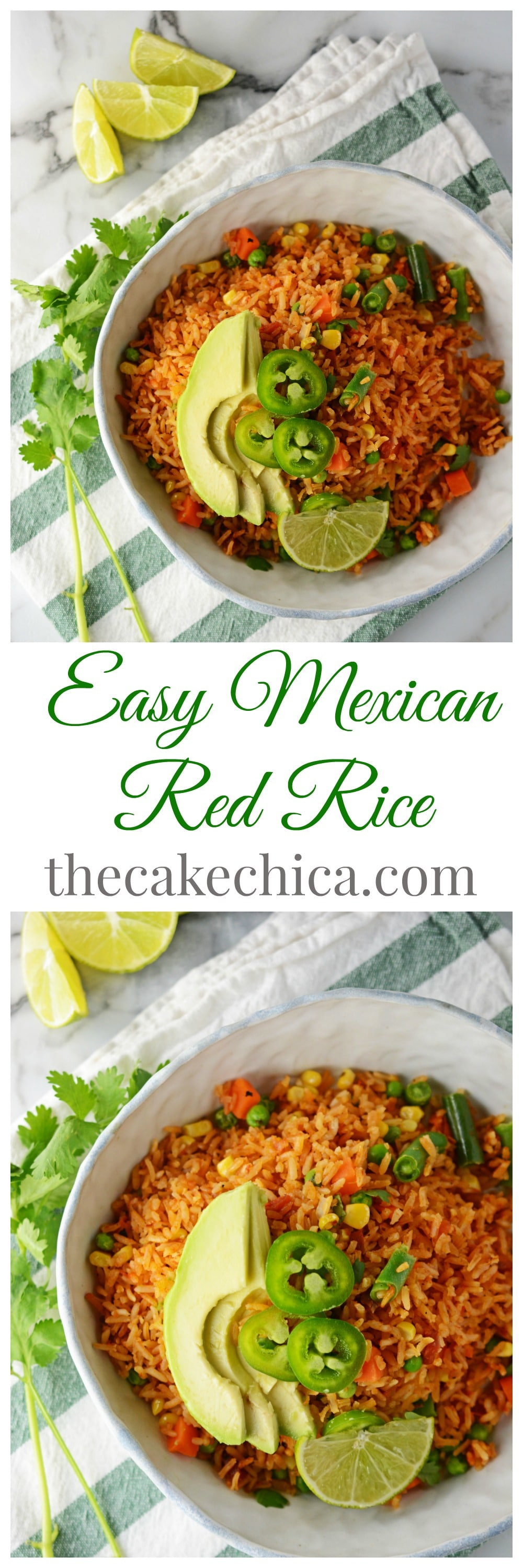 Easy Mexican Red Rice for Pinterest