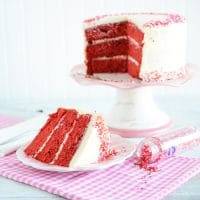 Valentine's Day Red Velvet Cake