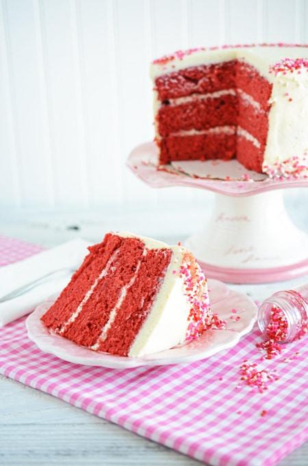Valentines Day Red Velvet Cake