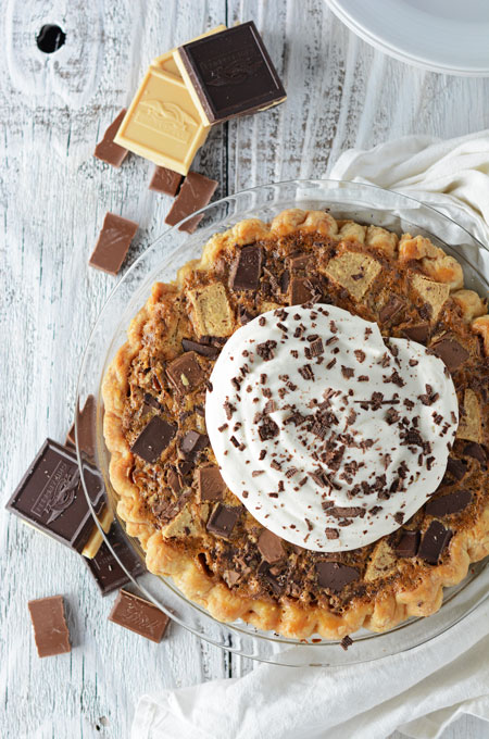 Triple Chocolate Chunk Pie