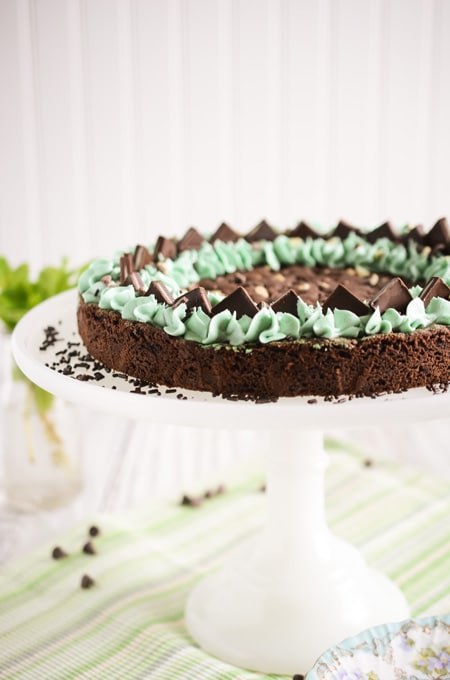 Mint Chocolate Chip Cookie Cake