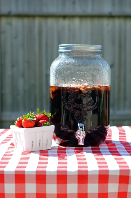 Strawberry Sun Tea