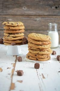 Snickers Chocolate Chip Cookies | Made with Snickers Bites