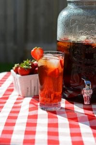 Strawberry Sun Tea