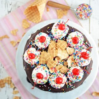 Grandmas Neapolitan Ice Cream Cake