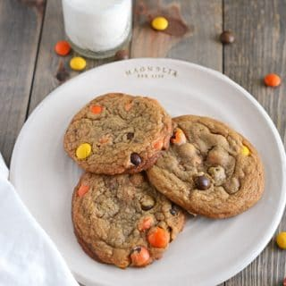 Browned Butter Chocolate Candy Cookies