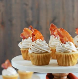 Maple-Bacon Cinnamon Cupcakes