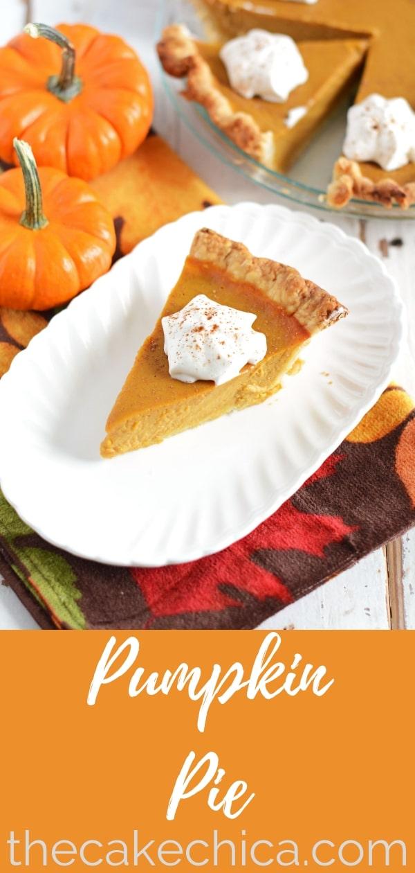 Pumpkin pie filling made with pumpkin puree and candied yams, backed in a crisp crust. #pie #pumpkinpie #fallbaking #baking #pumpkinrecipe