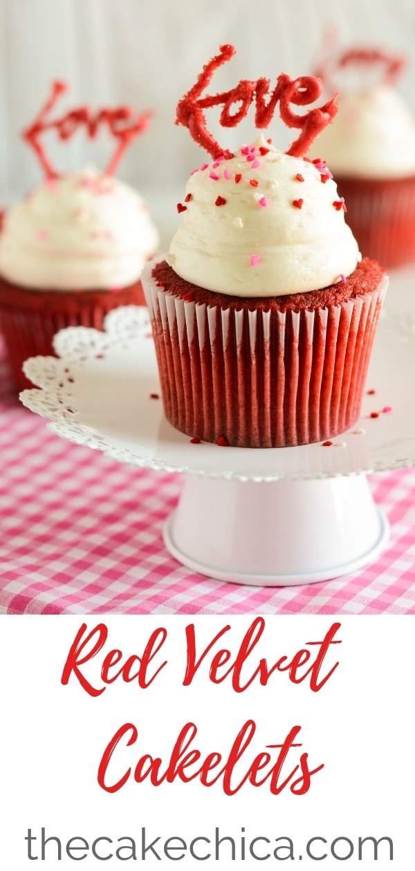 Decadent jumbo sized red velvet cupcakes topped with a fluffy cream cheese frosting! These will quickly become your favorite red velvet cupcake! #cupcakes #redvelvetcupcakes #cakes #redvelvet #creamcheese #creamcheesefrosting