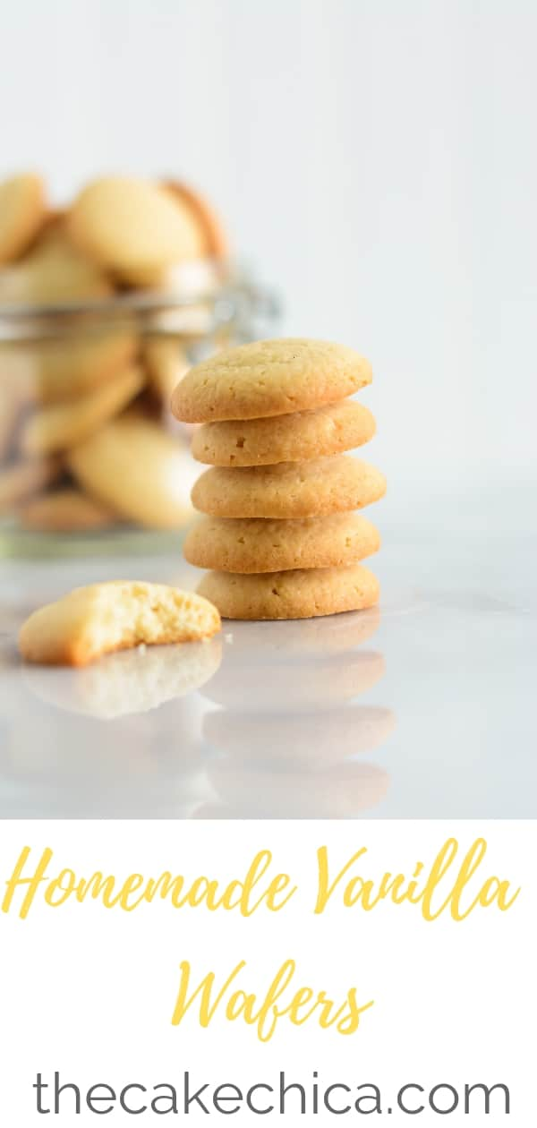 These Homemade Vanilla Wafers are full of real vanilla flavor. With crisp golden edges and fluffy centers, you'll never crave the store bought version again! #cookies #vanillawafers #homemadevanillawafers #Nillawafers