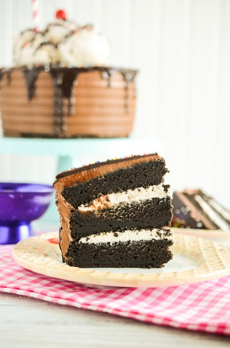 Chocolate Root Beer Float Cake