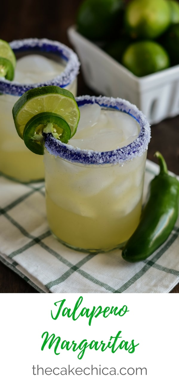 Perfect for any fiesta! These Jalapeno Margaritas are made with vodka, triple sec, fresh lime juice, simple syrup and infused with jalapeno flavor! #margaritas #margaritarecipes #jalapeno #vodka #cocktails