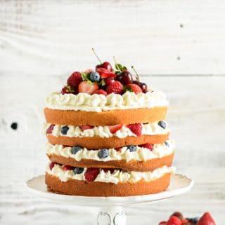 Mixed Berry Sponge Cake