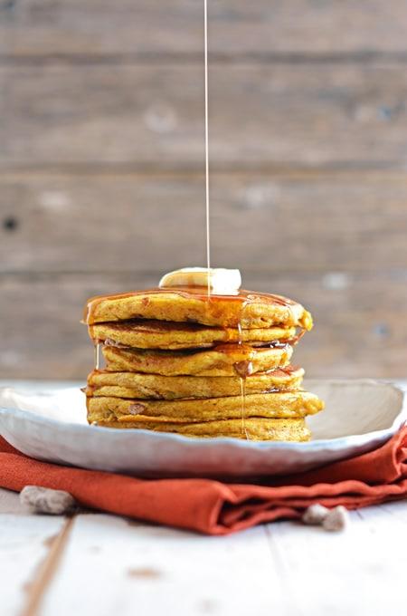 Spiced Pumpkin Pecan Pancakes