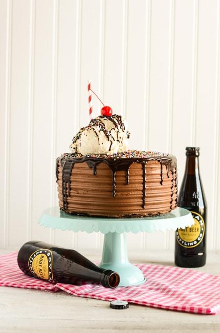 Chocolate Root Beer Float Cake