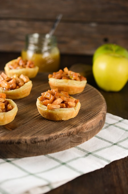 Apple Cups with Maple Toffee Sauce