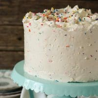 Confetti Cake with Buttercream Frosting