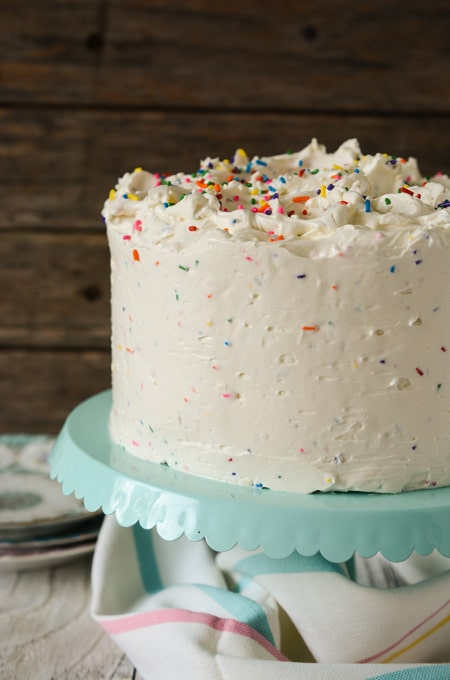 Confetti Cake with Buttercream