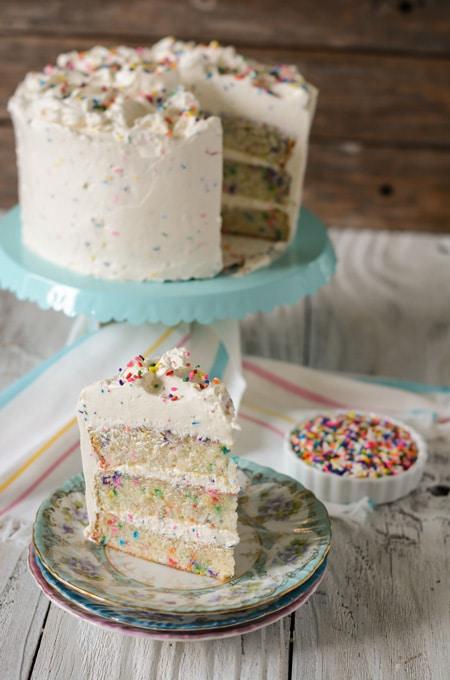 Confetti Cake with Buttercream