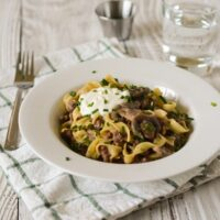 Weeknight Ground Beef Stroganoff
