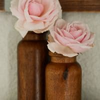 2pk Wood Bud Vase - Hearth & Hand with Magnolia